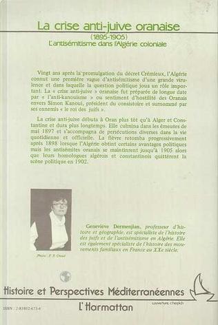4eme La crise anti-juive oranaise, 1895-1905