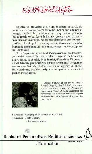 4eme Proverbes et dictons algériens