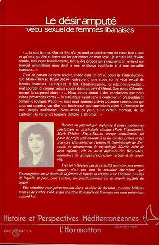 4eme Le désir amputé - Vécu sexuel de femmes libanaises