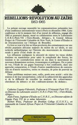 4eme Rébellions et Révolutions au Zaïre (1963-1965)