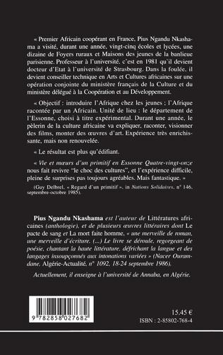 4eme Vie et moeurs d'un primitif en Essonne, quatre vingt-onze