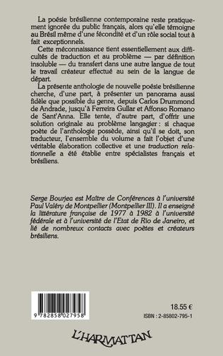 4eme Anthologie de la nouvelle poésie brésilienne