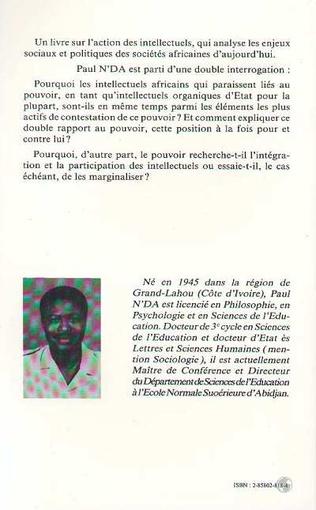 4eme Les intellectuels africains et le pouvoir en Afrique Noire