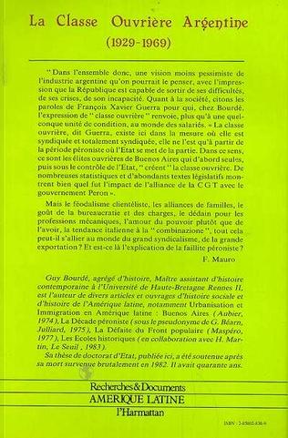 4eme La classe ouvrière argentine (1929-1969)