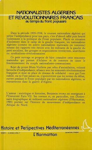 4eme Nationalistes algériens et révolutionnaires français au temps du Front Populaire