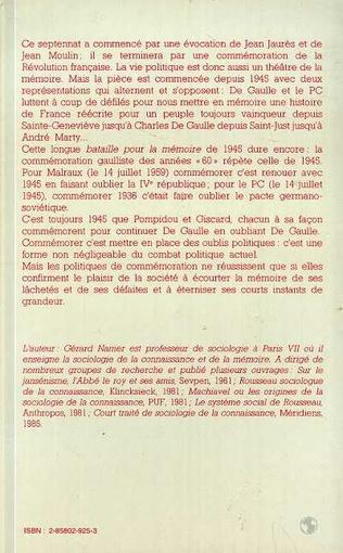 4eme La commémoration en France, de 1945 à nos jours