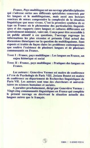 4eme France, pays multilingue