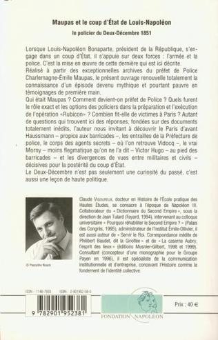 4eme Maupas et le coup d'Etat de Louis-Napoléon