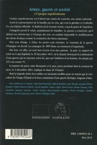 4eme Armée, guerre et société à l'époque napoléonienne