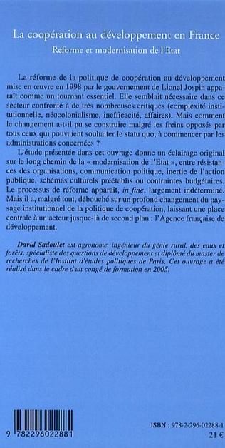 4eme La coopération au développement en France