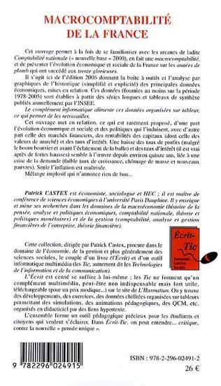 4eme Macrocomptabilité de la France