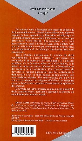 4eme Droit constitutionnel critique