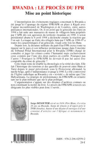 4eme Rwanda le procès du FPR