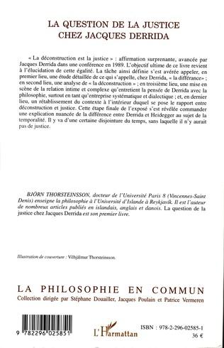 4eme La question de la justice chez Jacques Derrida