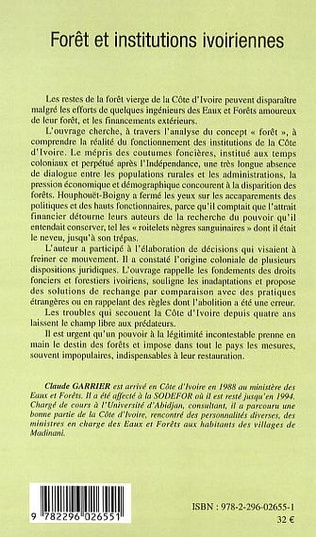 4eme Forêt et institutions ivoiriennes