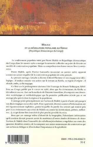 4eme Mulele et la révolution populaire au Kwilu