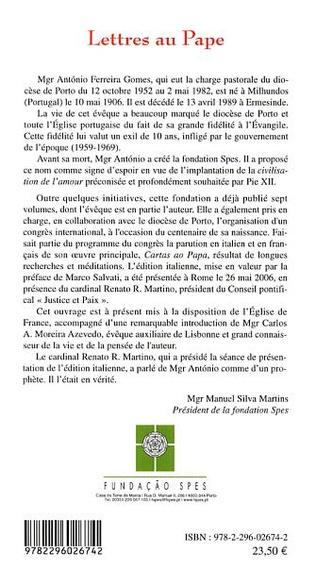 4eme Lettres au Pape