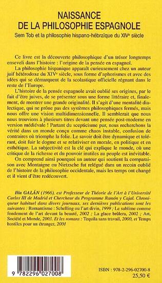 4eme Naissance de la philosophie espagnole