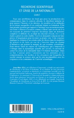 4eme Recherche scientifique et crise de la rationalité