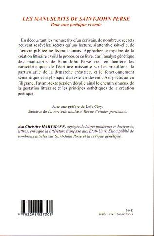 4eme Les manuscrits de Saint-John Perse