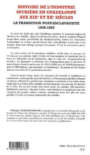 4eme Histoire de l'industrie sucrière en Guadeloupe aux XIX° et XX° siècles