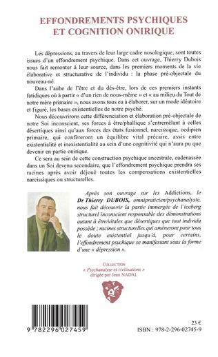 4eme Effondrements psychiques et cognition onirique