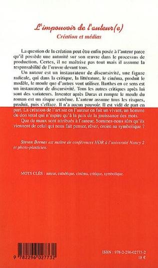 4eme L'impouvoir de l'auteur(e)
