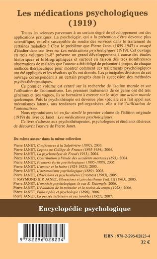 4eme Les médications psychologiques (1919) vol. I