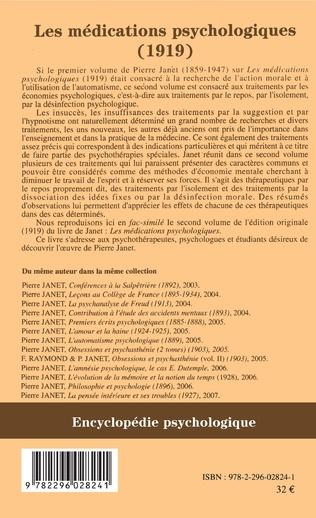 4eme Les médications psychologiques (1919) vol. II