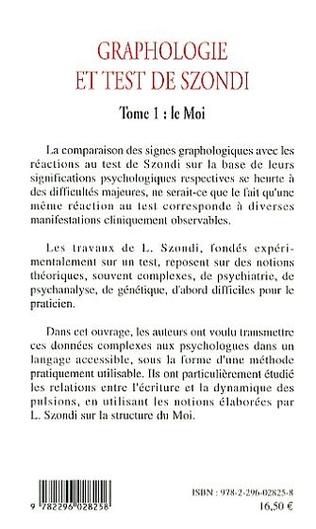 4eme Graphologie et test de Szondi