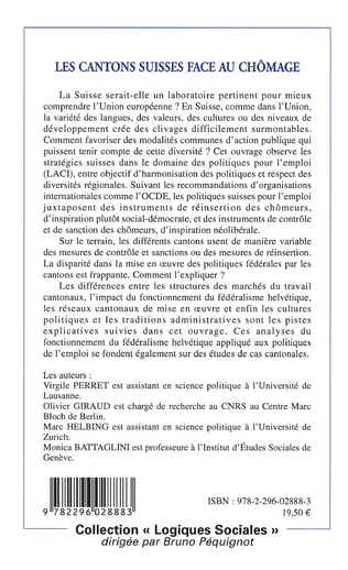 4eme Les cantons suisses face au chômage