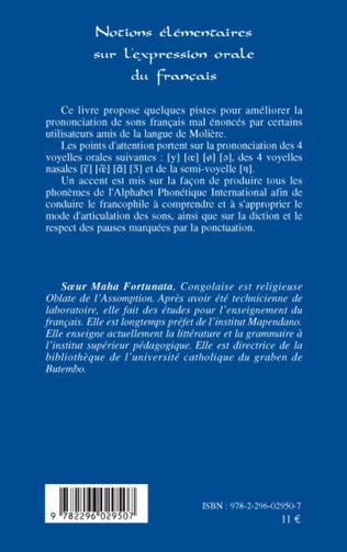 4eme Notions élémentaires sur l'expression orale du français