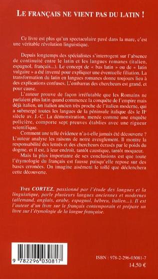 4eme Le français ne vient pas du latin !