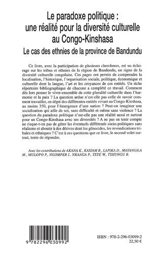 4eme Le paradoxe politique : une réalité pour la diversité culturelle au Congo-Kinshasa