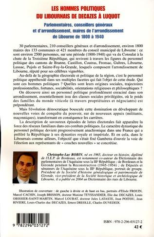 4eme Les hommes politiques du Libournais de Decazes à Luquot