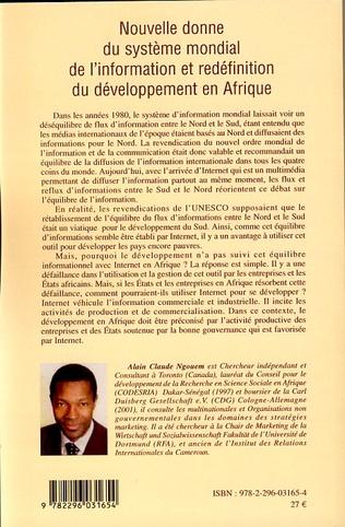 4eme Nouvelle donne du système mondial de l'information et redéfinition du développement en Afrique