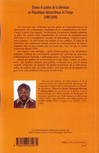 4eme Enjeux et publics de la télévision en République démocratique du Congo (1990-2005)