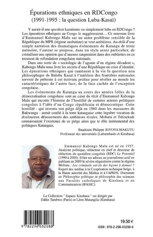 4eme Epurations ethniques en RDCongo