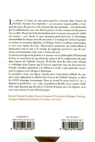 4eme Ethique et esthétique dans l'oeuvre de Nathalie Sarraute