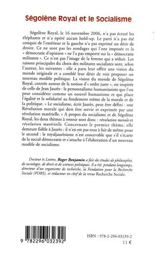 4eme Ségolène Royal et le socialisme
