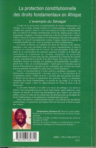 4eme La protection constitutionnelle des droits fondamentaux en Afrique