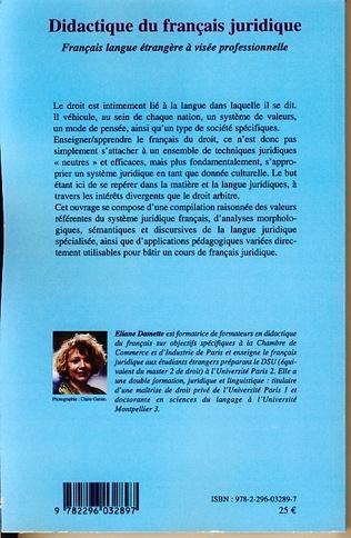 4eme Didactique du français juridique