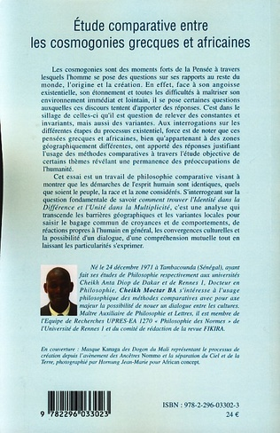 4eme Etude comparative entre les cosmogonies grecques et africaines