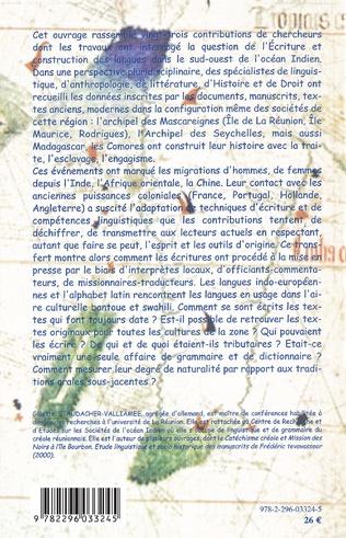 4eme Ecriture et la construction des langues dans le sud-ouest de l'océan Indien