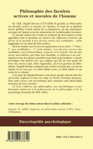 4eme Philosophie des facultés actives et morales de l'homme
