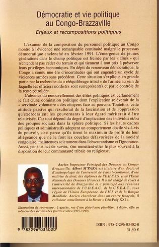 4eme Démocratie et vie politique au Congo-Brazzaville