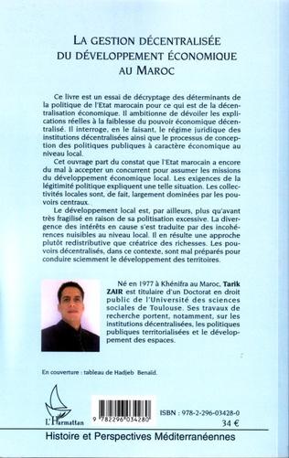 4eme La gestion décentralisée du développement économique au Maroc