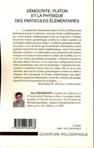 4eme Démocrite, Platon et la physique des particules élémentaires