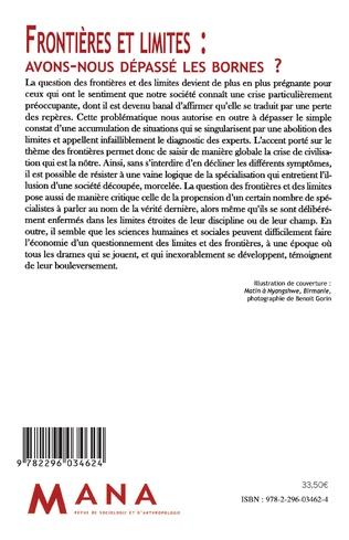 4eme Frontières et limites : avons-nous dépassé les bornes ?