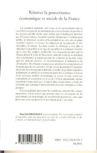 4eme Rénover la gouvernance économique et sociale de la France